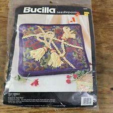 """BUCILLA Needlepoint Kit SILK TASSELS PILLOW Kooler Design Studio 4660 14x11"""""""