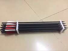 """50PK Archery hunting crossbow mixed carbon 20 inches arrows with 3"""" arrow vane"""