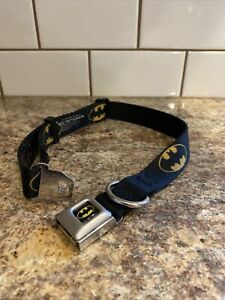 "Buckle-Down Plastic Clip Collar Batman Shield Black/Yellow 1"" Wide 15-25"" Neck L"