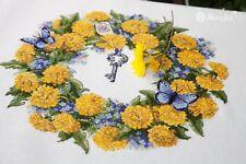 Summer wreath with dandelions Cross stitch kit by Merejka brand K-97