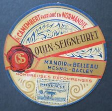 Etiquette fromage CAMEMBERT OS OUIN SEIGNEURET   french cheese label 26