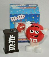 M&M Salt & Pepper Shaker Set I'm Baad RED with Chocolate M&M Bag Shakers I'M Bad