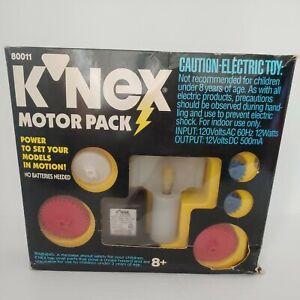 VTG K'NEX Motor Pack Set 80011 COMPLETE 1993 ELECTRIC GIANT & INTERNATIONAL SETS