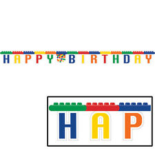 BLOCK PARTY  Birthday Party Supplies  Banner