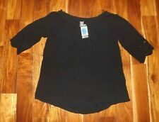 6315f7330d8 NWT Womens Chelsea   Theodore Black Gauze Summer Top Blouse Shirt Size 2XL  XXL
