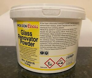 2.5kg Official Molson Coors Renovate Glass Renovation Powder Commercial Catering
