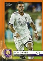 2020 Topps Major League Soccer Base Common Orange Parallel Numbered to /25 1-19