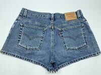 "Women's Levis Blue Jean Short Shorts Size 11 JR 32""Waist 2 1/2 Inseam"