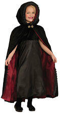Girls Luxury Cape Halloween Gothic Hooded Fancy Dress Costume Outfit New 5-9