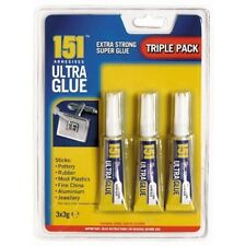 Triple Pack 151 Adhesivo Pegamento Ultra Gel Extra Fuerte Super Loctite 3 x palo 3G