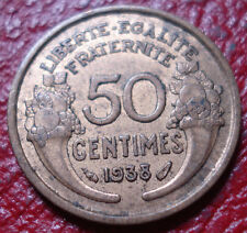 1938 FRANCE 50 CENTIMES IN EF CONDITION