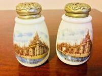 CF Monroe Simplicity 1904 World's Fair Palace of Electricity Salt/Pepper Shakers