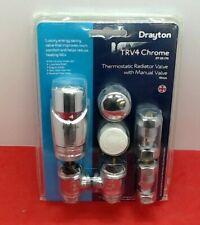 Drayton TRV4 Thermostatic Radiator Valve + Lockshield Valve 15mm 0705170