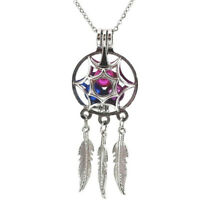 Dream Catcher Pearl Cage Floating Locket NO Akoya Oyster Pearl Pendant Necklace