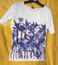 weiches Oversize Shirt Viskose Palmen Laura Scott Gr.38/40