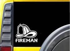Fireman Helmet K330 6 inch decal Maltese cross sticker