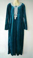 Abaya Maxikleid muslimisches Samtkleid Winterkleid Jellabiya Djelaba Gr XL - 2XL