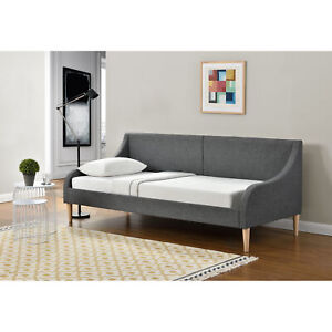 [en.casa] Tagesbett 90 x 200 cm Schlafsofa Bett Textil Bettgestell Schlafzimmer