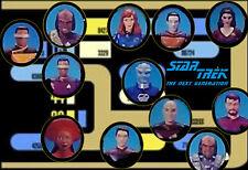 CREW Star Trek Next Genera Loose Figures, Bases & Accessories For Playmates1993