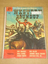 DELL GIANT WESTERN ROUNDUP #20 VG+ (4.5) DECEMBER 1957
