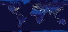 faveron: Azul Map Imagen Camilla 55x115 MODA Art Estrás Mapamundi eurograph