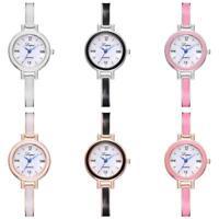 Fashion Women Watch Quartz Alloy Band Analog Ladies Wrist Watches Bracelet Decor