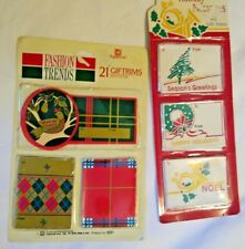 Christmas Gift Tags 39 count Card Stock New Made in Pa Usa New