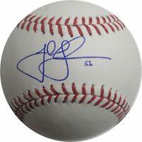 Josh Lindblom Hand Signed Autographed MLB Baseball Los Angeles Dodgers Blue