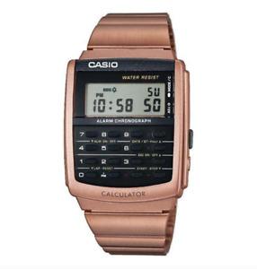 Casio CA-506C-5A Calculator Rosegold Watch for Men and Women