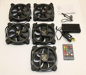 Enermax T.B. RGB - 120mm Gehäuse Lüfter - 5er Pack + Controller (UCTBRGB12-BP3)