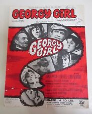 'Georgy Girl' - Rare Sheet Music - The Seekers - Dale and Springfield - 1966