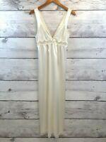 Vintage Juli of Slumbertogs Womens Nightgown Ivory Chemise Sleeveless Bridal S