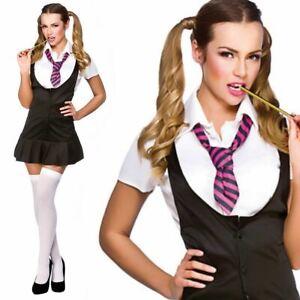 St Trinians School Girl Ladies Fancy Dress Costume School Uniform Outfit