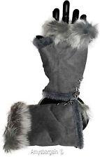 Winter Gloves. Finger-less Gloves, Women's Gloves Hand/Wrist Warmer Fur trim New