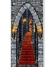 Stone Dungeon Castle DOOR Entrance Halloween Scene Setter Photo Backdrop