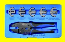 BGS 1410 Satz Kabelschuhzange mit 5 Wechselbacken Crimpzange 5 in 1 Quetschzange