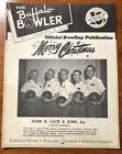 Vintage Bowling Magazine 1954 Buffalo Bowler Vol 1 #5 Merry Christmas Genny Beer