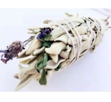 💜WHITE SAGE, ROSEMARY & LAVENDER  Smudge Stick🌿 Wild And OrganIc