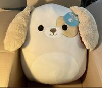 """Squishmallow 16"""" Harrison Brown Tan Dog Puppy Target Exclusive Floppy Ears NEW"""
