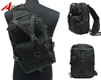 Outdoor Tactical Molle Hydration Backpack Pack Hiking Hunting Shoulder Bag Black