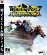 Used PS3 Winning Post 7 Maximum 2007 SONY PLAYSTATION 3 JAPAN JAPANESE IMPORT