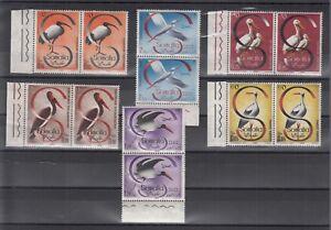 ITALIA. Somalia AFIS COPPIA 1959 UCCELLI 6 VAL.  Cat. ss. 61/64 +  A50/A51 MNH**