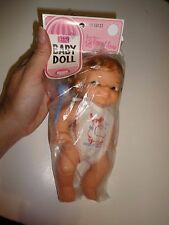 Vintage NOS Sears Baby Doll in Package Brunette Girl Doll