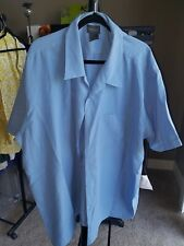 Alexander Lloyd Men's Short Sleeve Blue Button Down Shirt 3XB