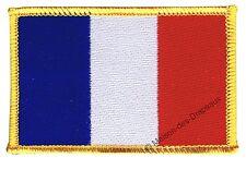 Écusson brodé drapeau FRANCE français 5x8cm Thermocollant
