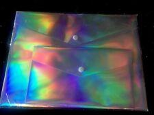 diVoga 2 Pack Poly Snap Metallic Envelopes-Beautiful! 12inx9in & 9inx5in