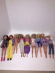 Huge Lot of 18 Dolls Barbie  Disney Misc Dolls  For OOAK Or Play Collectors