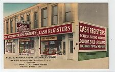 BURL & KENNEY STORE BROOKLYN NY: US linen postcard (C4916).