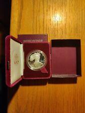 1986 One Ounce PROOF Silver Bullion American Eagle W/ Box