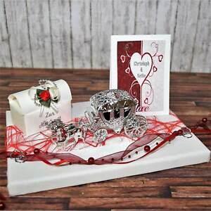 Geld Geschenk zur Hochzeit personalisiert mit Karte Kutsche Hochzeitsgeschenk